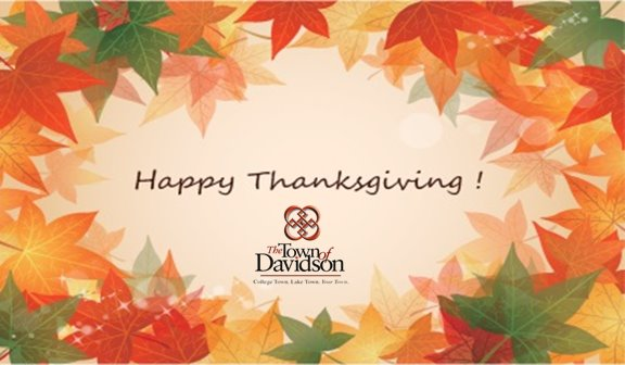 Happy Thanksgiving from Davidson Parks and Recreation