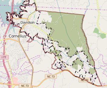 map of rural area