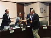 The Davidson Board of Commissioners thanked Mickey Pettus for his service