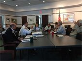 photo of board at work session