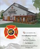 Fire station ceremony invite