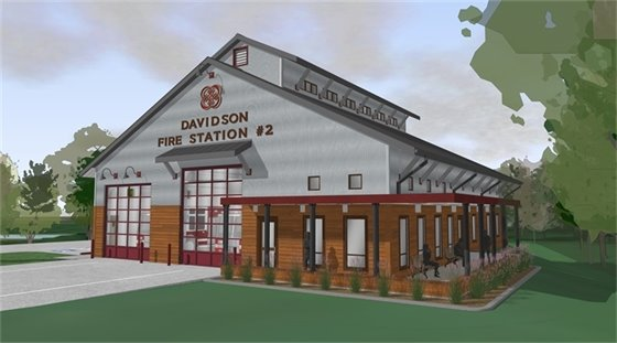 Fire Station #2 rendering