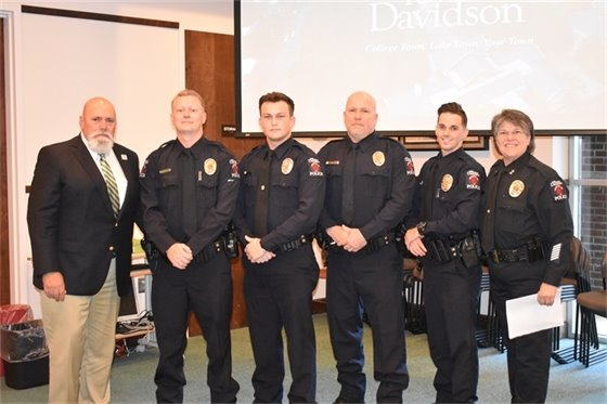 Four officers were sworn in