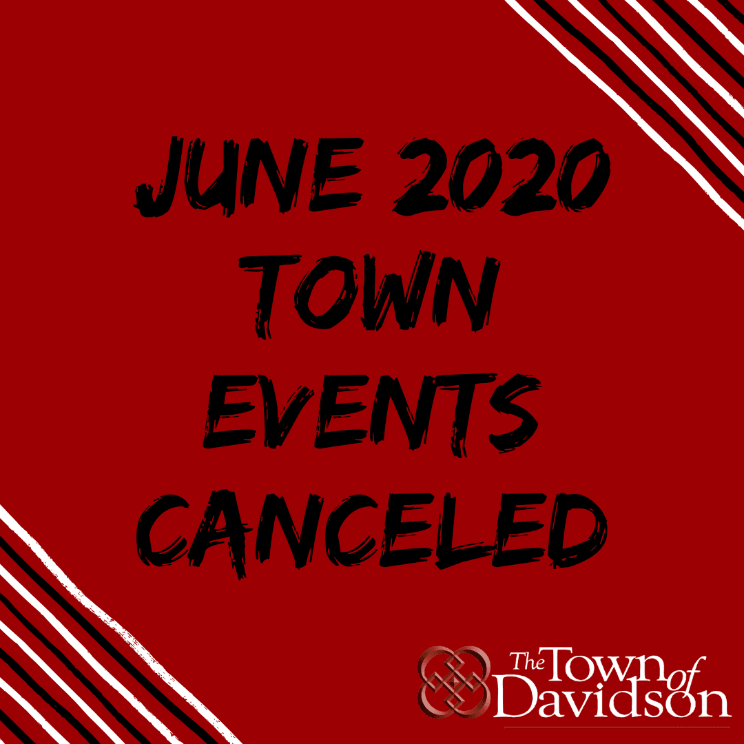 June Events Canceled