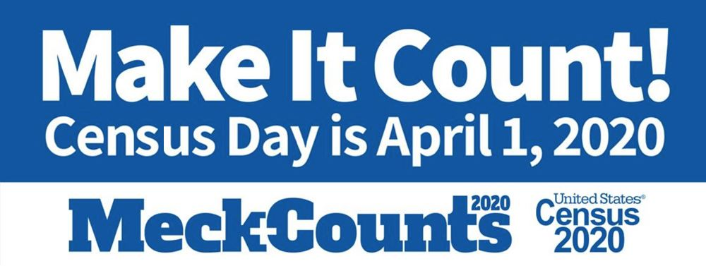 MeckCounts 2020 Logo - Census Day is April 1