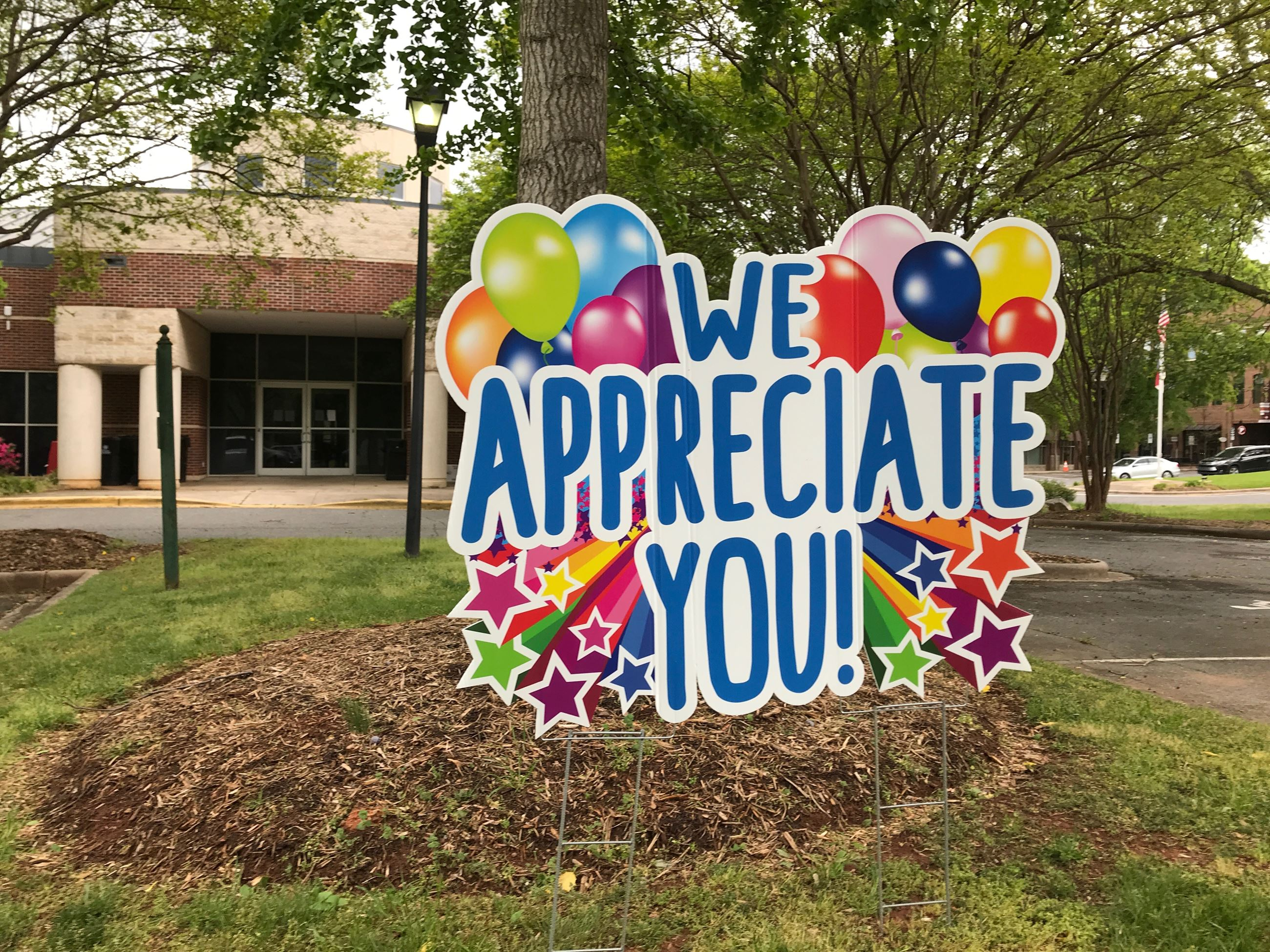 Appreciation Sign at Town Hall